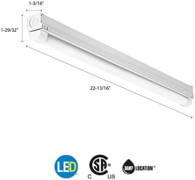 Lithonia Lighting Cmns L23 1ll 840 Led Striplight 4000k 12 Watts 120v 2 Foot Cool White Amazon Com