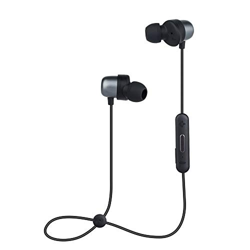 Bluetooth Headphones, Wireless Magnetic Earbuds Sports Sweatproof Earphones Stereo Noise Cancelling Gym Workout Running Topsion (Black)