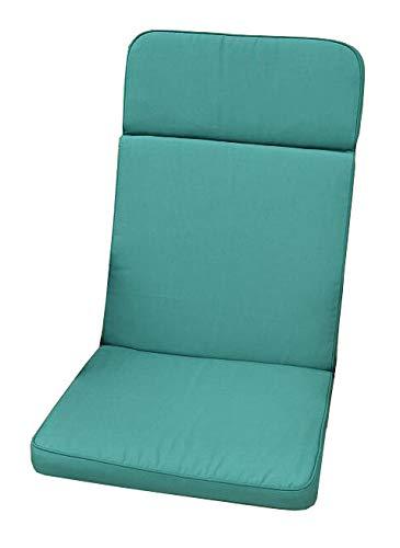 Cojin para silla reclinable de jardín clásico - color verde ...