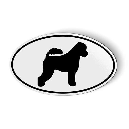Portuguese Water Dog Oval - Magnet for Car Fridge Locker - 3