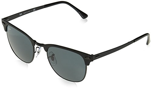 (Ray-Ban Metal Unisex Square Sunglasses, Shiny Black Top Matte, 51 mm)