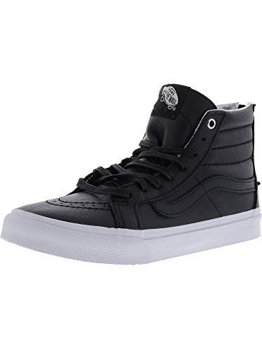 Basse hi true Vans Donna Slim Sneaker Zip White Black Sk8 wSq4qXU