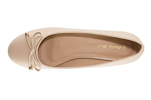 Andres Machado Women's Ballet Flats Brown Soft Marron lcabWU