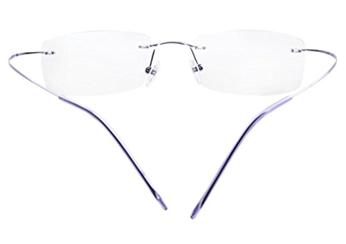 Eyekepper Titanium Rimless Eyeglasses Women Purple