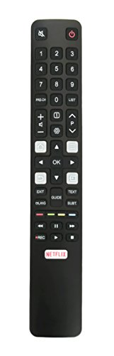 New Remote fit for TCL TV 4K HDTV P20 Series C2 Series 49C2US 55C2US 65C2US 75C2US 75C2US 32S6000S 40S6000FS 43S6000FS 49S6000FS 55S6000FS 06-IRPT45-GRC802N RC802N YAI2 RC802NYAI2 43P20US 50E17US