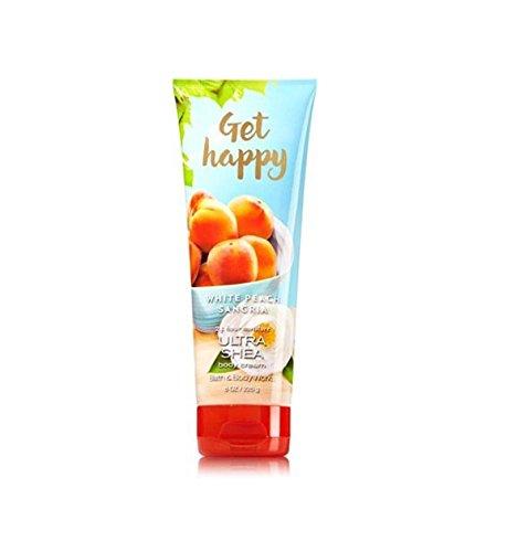 Bath and Body Works Get Happy White Peach Sangria Body Cream 8 - Peach White