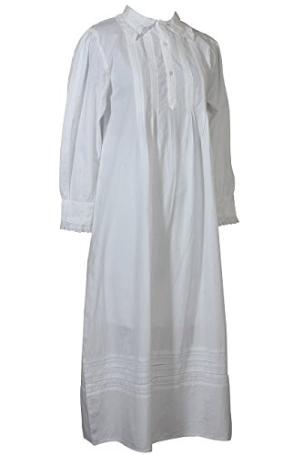 Cotton Lane Coton Blanc Victorian Vintage Nightdress.Tailles Franais 36-62