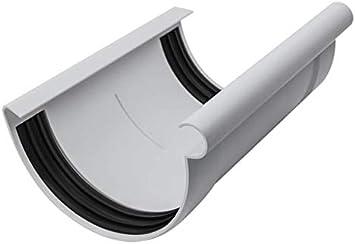 halbrund Grau NW 125 DN 100 INEFA Ablaufstutzen Rinne zu Fallrohr
