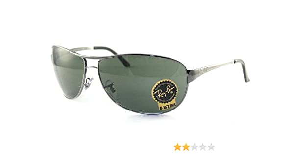 947ebe4b807 Amazon.com  Ray Ban RB3342 Warrior Sunglasses-004 Gunmetal (G-15XLT  Lens)-60mm  Shoes