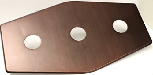 Westbrass D505-12V 13 Three-Hole Remodel Plate Victorian Bronze