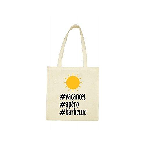 Tote bag bag vacances beige beige hashtag Tote vacances hashtag EqH6P6