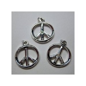 Jolees Jewels Swarovski Elements - Jolee's Jewels Charms Swarovski Crystal Elements with Peace Sign in Aurora Borealis - 3 per Package