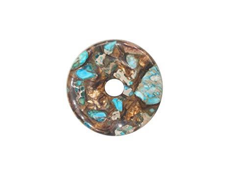 (40MM Turquoise Blue Sea Sediment Gemstone Pendants,Gemstone Beads for Necklace,Gem Jasper for DIY (Turquoise Blue Sea Sediment Jasper))