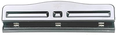 Officemate Adjustable Three Hole Punch, Black (90095) by OIC