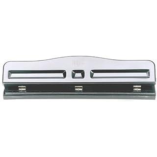 Officemate Adjustable Three Hole Punch, 11 Sheet Capacity, Black (90095)