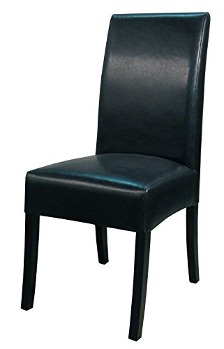 Heights Leather Pacific Chair (New Pacific Direct Valencia Leather Chair,Black Legs,Black,Set of 2)