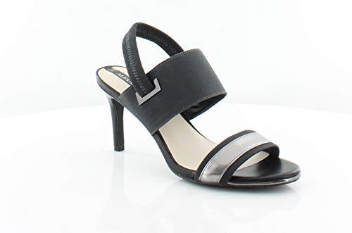 Alfani Womens Slingback - Alfani Womens Genevia Open Toe Casual Slingback Sandals, Pewter, Size 5.5