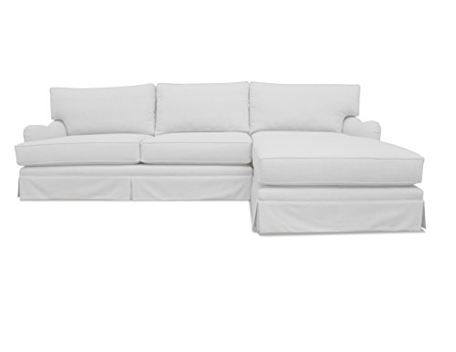 South Cone Home Milan Right Sectional Sofa, White