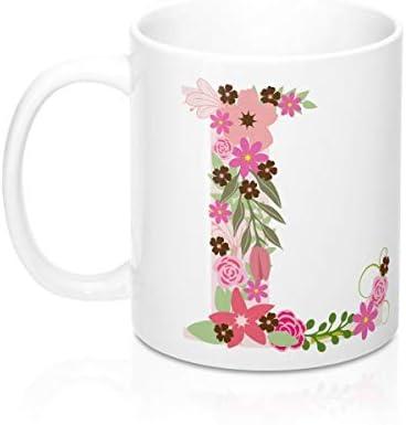 Initial Monogram Coffee Mug Custom Alphabet Cup Gift for Her