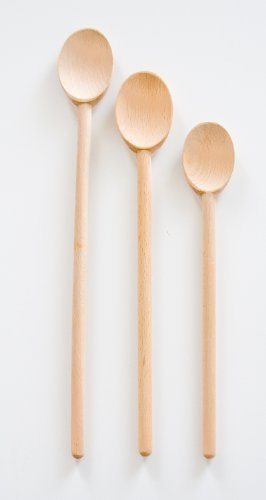French Beechwood Mixing Spoon - French Style Oiled Beechwood Spoon Set