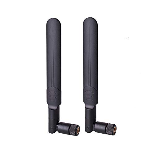4G LTE Antenna, RHsia [2 Pack] 3G 4G LTE Dipole Antenna Wide Band 9dbi 700-2700Mhz Omni Directional Antenna with SMA Male Connector for CPE Router,Access Point,Wireless Rang Extender,IP Camera More