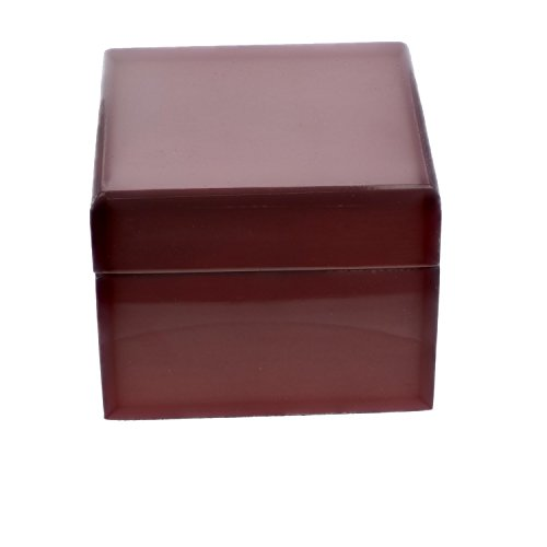 Cherry Red Wood Jewelry Gift Box Display Case