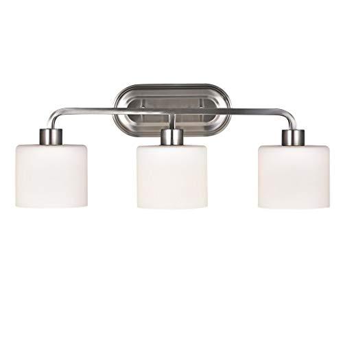 Chloe Leia Collection 3-Light Brushed Nickel Bath/Vanity Light