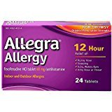 Allegra Adult Allergy 60 Mg 12 Hour 24 Count Long-Lasting Fast-Acting Antihistamine for Noticeable Relief from Indoor and Outdoor Allergy Symptoms