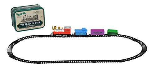 (Home-X Mini Railway Locomotive Toy Train in Lithographed Collector Tin Box)
