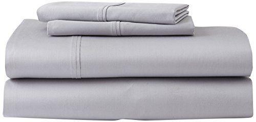 Ghostbed Cal King Premium Supima Cotton and Tencel Luxury Soft Sheet Set, Grey, 6 Piece