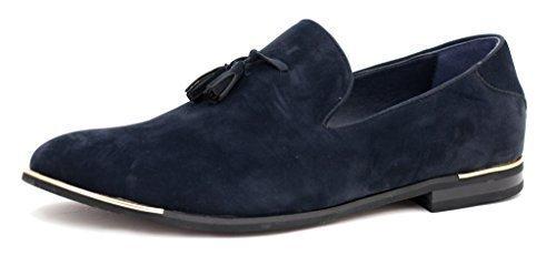 nuevo de hombre Zapatos De Ante Sin Cordones Borla Moda Mocasines Inteligentes Vestido Casual Size UK - Azul Marino, 11 UK / 45 EU: Amazon.es: Zapatos y ...