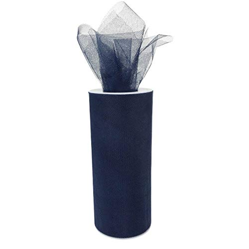 Just Artifacts - Tulle Fabric Roll - 6in width/25yrd Length - Midnight Navy -