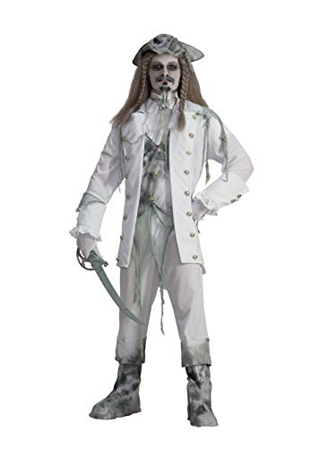 Forum Novelties Men's Ghost Captain Costume, White/Gray, One Size -