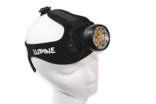 Lupine Lighting Systems Wilma RX 7 HD Headlamp, 3200 Lumens, LED, Bluetooth Control, Heavy Duty Headband, Rechargeable 6.6 Ah SmartCore Lithium-ion Battery by Lupine Lighting Systems