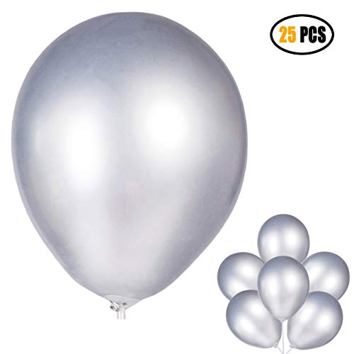12 inch Chrome Shiny Metallic Latex Balloons for