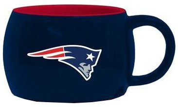New England Patriots 14oz Stack Relief Mug (2 pack)