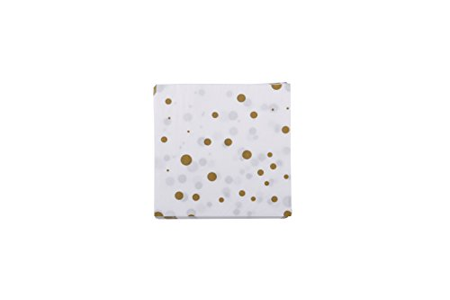 (100 Gold Polka Dot Napkins Decorative White Gold Confetti Cocktail Paper Party Dessert Beverage Napkins Bulk for Birthday Bridal Baby Shower Occasions Wedding Anniversary Engagement Holiday Supplies)