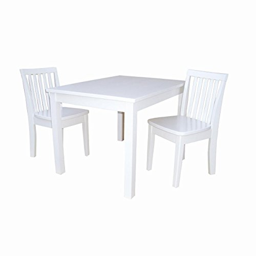 International Concepts K08-2532-263-2 3 Piece Children's Table and Chairs, Linen ()
