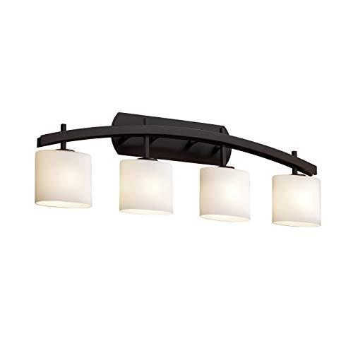 Justice Design Group Lighting  FSN-8594-30-OPAL-DBRZ Archway Four Light Bath Bar