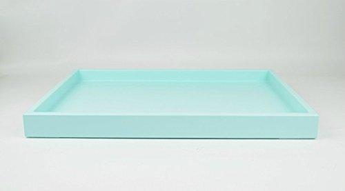 Large Ottoman Coffee Table Tray Aqua Blue