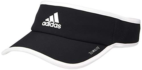 adidas Women's Superlite Performance Visor, Black/White, One Size