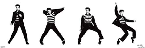 Elvis Presley Jailhouse Rock Sequence Dancing King of Rock Music Poster 36x12 inch
