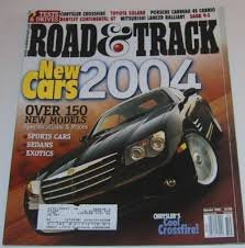 Road & Track Magazine, October 2003: Chrysler Crossfire, Saab 9-3, Mitsubishi Lancer, Toyatoa Solara, New Cars 2004, etc.