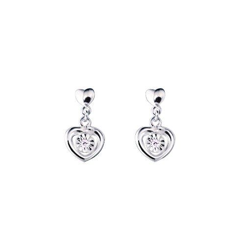 65d20c5fc3b5 Bijoux pour tous - Pendientes de oro blanco con diamante (0)  Amazon ...