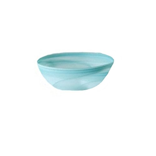 Shiraleah Medium Turquoise Frosted Alabaster Shallow Round Bowl