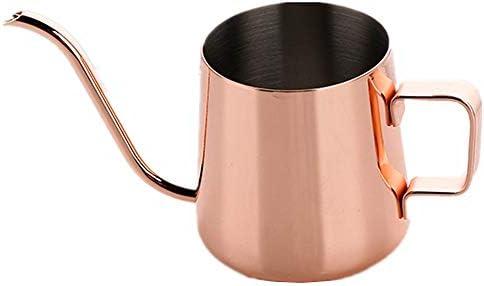 コーヒーポット ステンレス製のコーヒーポット標準グースネックハンドドリップコーヒーと非コーヒー愛好家や初心者蓋バリスタのコーヒーギフト250ML 350MLを噴出注ぎます コーヒードリップポット (Color : ROSE GOLD, Size : 250ML)