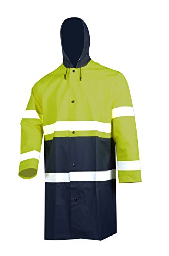 VECTOR 84% PVC 16% PU Safety Reflective High Viz Visibility Security Waterproof Men's Work Wear Rain Jacket Protective Work Jacket with Nylon Backing without Lining 1