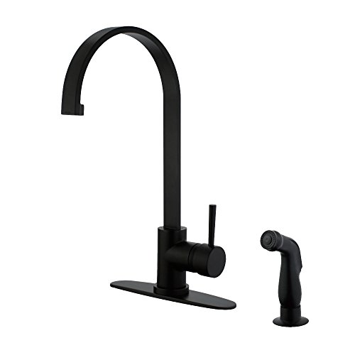 Kingston Brass LS8710DLSP Concord Single Handle Kitchen Faucet with Side Sprayer Matte ()