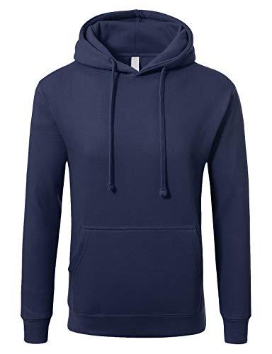(JD Apparel Men's Basic Pullover Hoodie Sweatshirt S Royal)