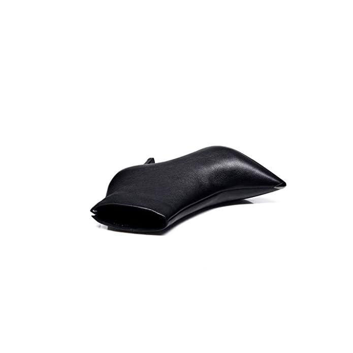 Chixiao 2018 Nuovi Tacchi A Spillo Autunno E Inverno Stivali Con Tacco Piccolo Scarpe In Pelle Da Donna Punta Di Primavera colore Nero Dimensioni 35